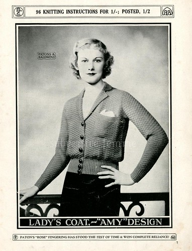 free 1930's Knitting knitting patterns P&B's Speciality Knitting Book No.33