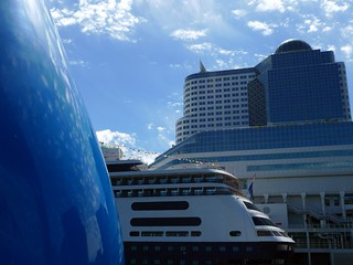 The Drop, cruise ship and Canada Place