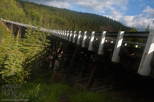 Kiskatenaw Curved Wooden Bridge, Alaska Highway [3 of 3]
