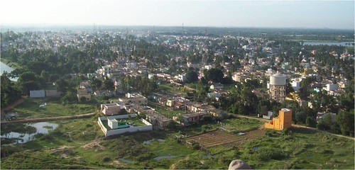 View of the town of Mulbagal, Karnataka