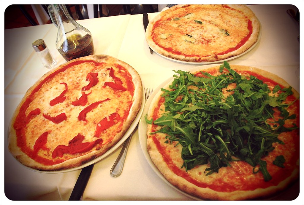 Pizzas in Italy
