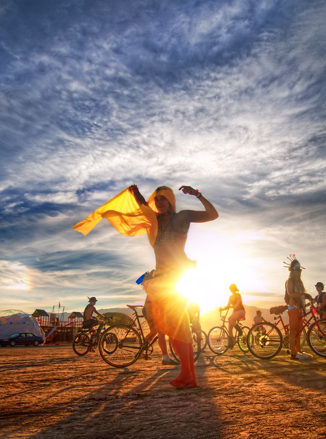 Almost Burning Man Time: Dancing in the Sun