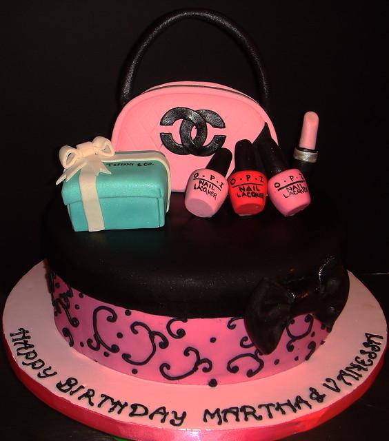 Chanel Nail Polish Cake