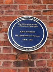 Photo of  John Weller I and Weller Architectural Partnership blue plaque