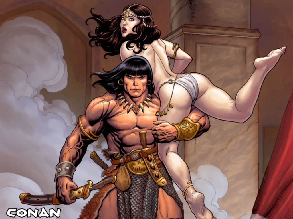 Accept. conan the barbarian with women can