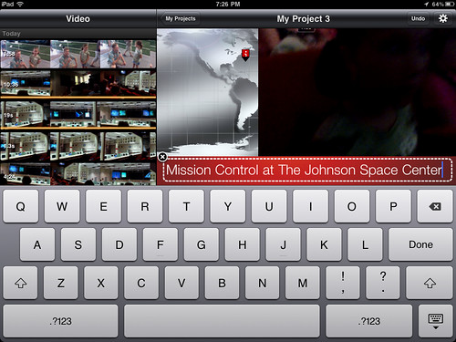 9 (iMovie for iPad) - Type the desired video title