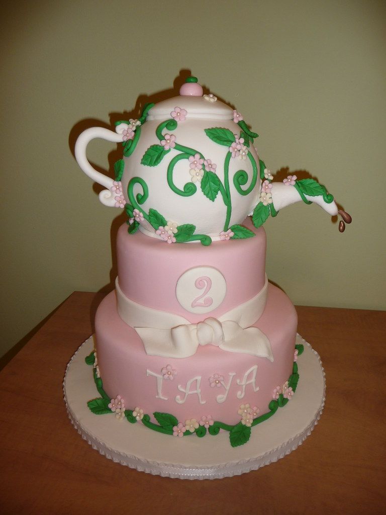 Birthday Cake In The Shaped Of A Teapot