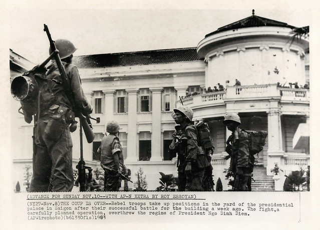 15 Nov 8, 1963 - Rebel troops take up positions in the yard of the presidential palace in Saigon
