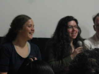 mckenzie and shira at the economics of happiness event