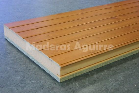 Maderas aguirre estructuras panel sandwich panel for Tejados de madera precio m2