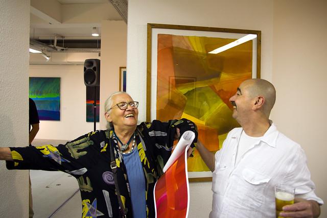 Hanna und Rainer auf Gernod's Vernissage