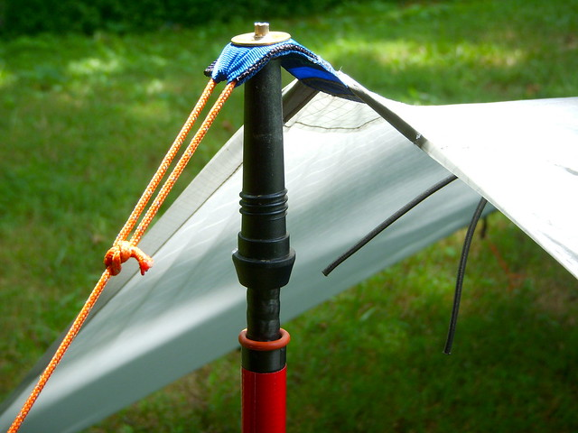 Trekking poles used as shelter/tent poles - Brian Green