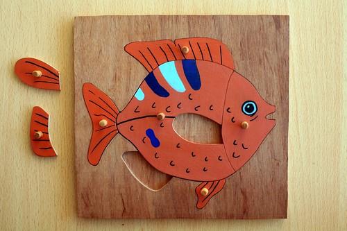 Puzzle poisson botanique Montessori