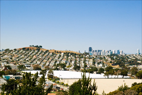 Bernal Heights seen from McLaren Park  (17 July 11))