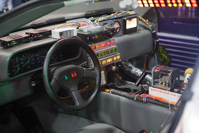 Back to the Future Part 1 - DeLorian Time machine - Interior Shots