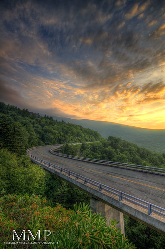 The Linn Cove Viaduct at Sunrise