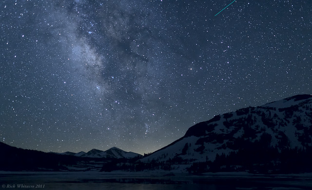 Milky Way over Tioga Lake by Rick Whitacre
