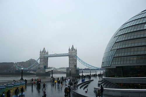 Cold and Wet London Bridge