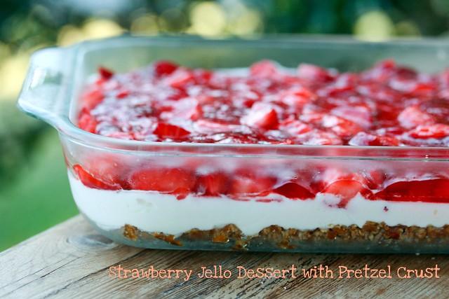 Strawberry Jello Pretzel Cake