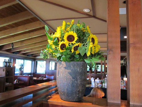 sunflowers, Rutherford Grill IMG_7380