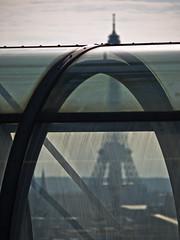 La tour Eiffel vue du centre Georges Pompidou