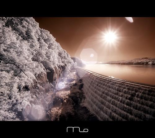 new ny newyork seascape reflection yoga sunrise canon river landscape ir waterfall dam reservoir infrared converted nik croton hudson rebelxt dri photomo silverefex 665nm digitalexposureblending mikeorso