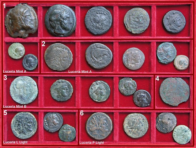 x Luceria Roman Republican struck Bronzes, Second Punic War Period