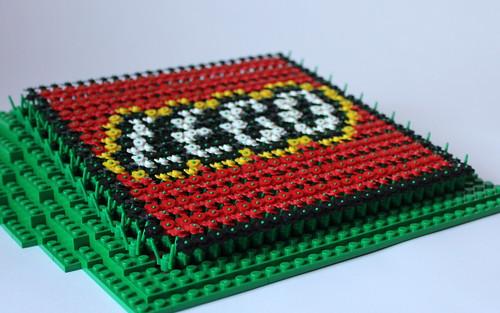 LEGO Logo Flower Mosaic