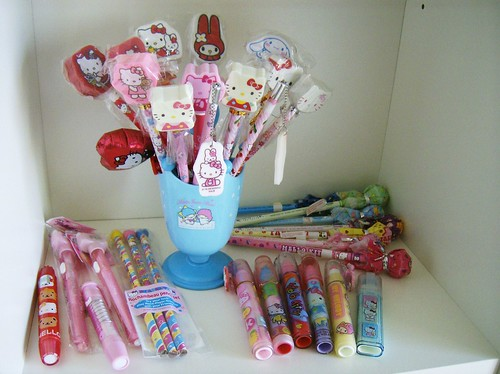 SANRIO  PENCILS & ERASERS