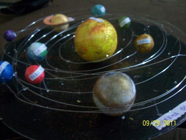 maqueta del sistema solar 3d