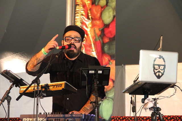 Chico Mann played funky Afro-Latin electronica at the 2011 Chile Pepper Fiesta. Photo by Rebecca Bullene.