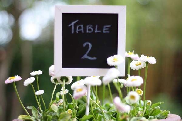Floral and Chalkboard Table Number by Gemma Morgan