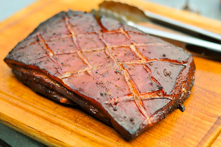 Smoked Pork Belly Marinated In Char Siu Sauce