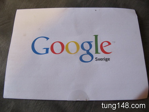ได้จดหมายจาก Google Sweden