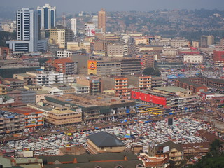 Aussicht vom Minarett der Ghadaffi-Moschee in Kampala