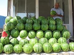 vegetable(0.0), figleaf gourd(0.0), plant(0.0), cucurbita(0.0), watermelon(1.0), produce(1.0), fruit(1.0), food(1.0), winter squash(1.0),