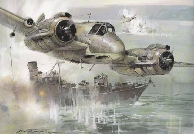 Bristol 156 Beaufighter art by Michael Turner