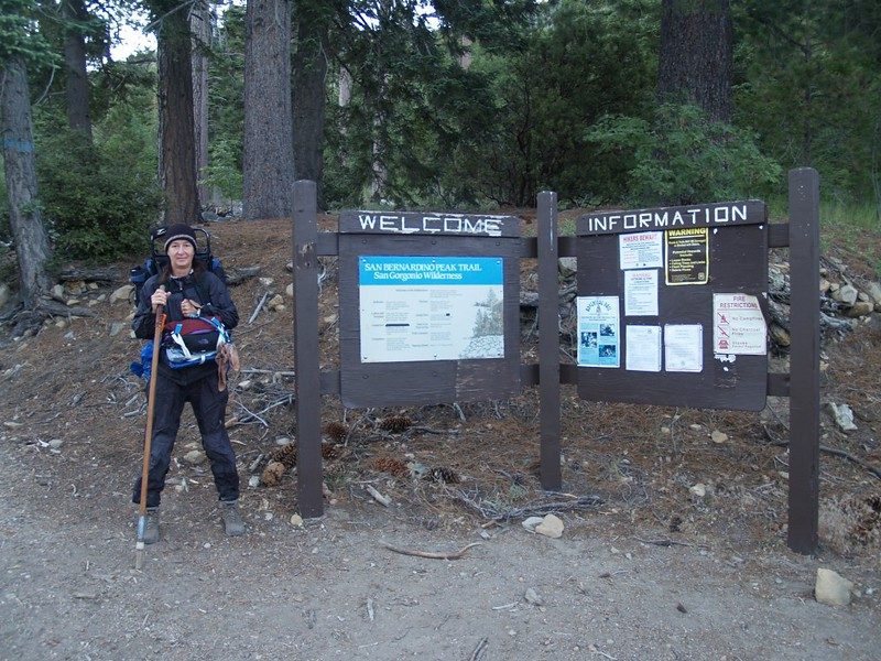 San Bernardino Peak Trailhead Sign
