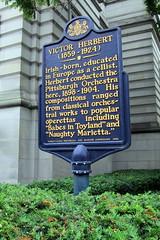 Photo of Victor Herbert blue plaque
