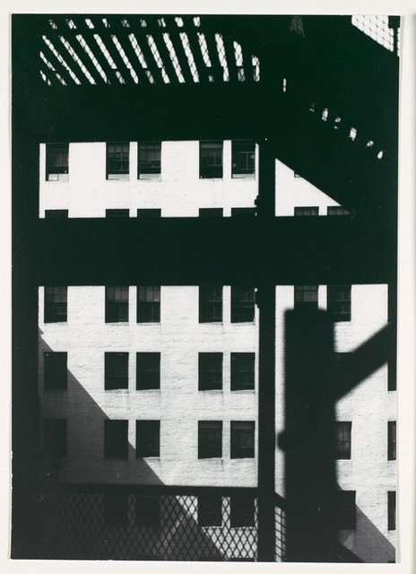 Architectural Study, Building seen from under the El, New York, 1929, by Walker Evans