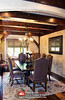 Formal Dining Room | Hybrid Log & Timber Home | PrecisionCraft Log Homes by PrecisionCraft Log & Timber Homes