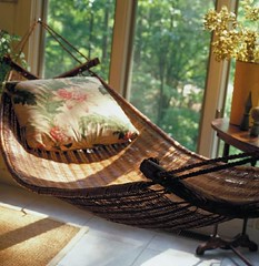 furniture, wood, wicker, interior design, hammock,