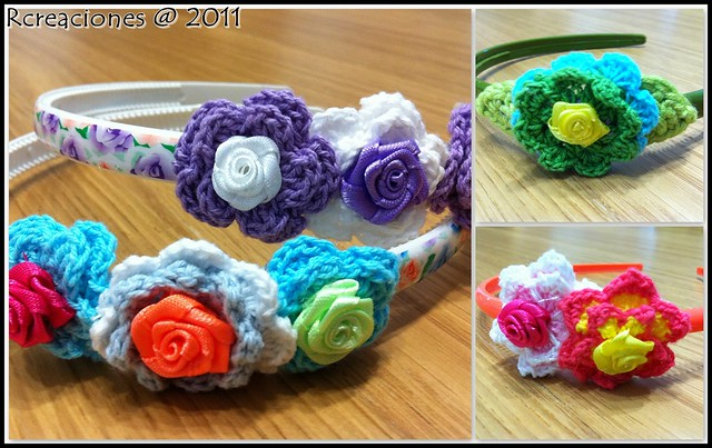 Diademas crochet flickr photo sharing - Diademas a crochet ...