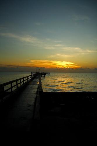 ocean gulfofmexico sunrise canon pier texas corpuschristi tx gulfcoast