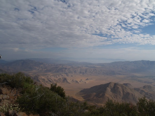View east into the desert from Monument Peak