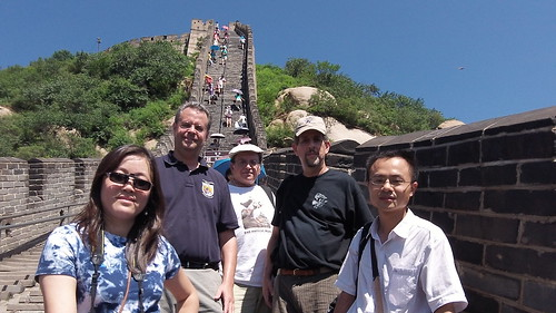 Our group at the Great Wall