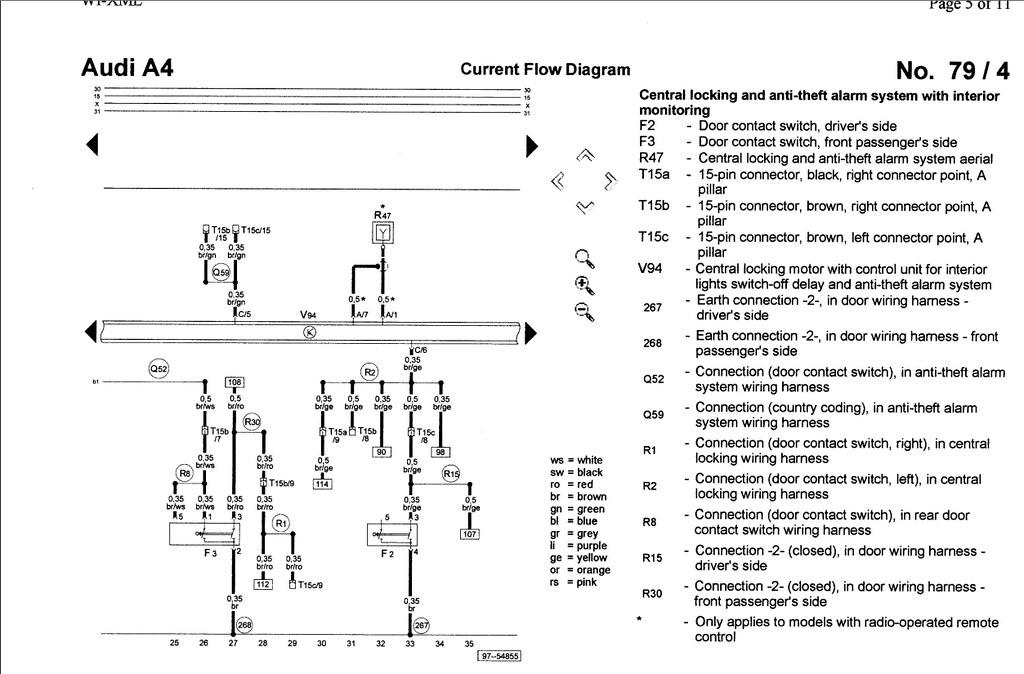 Audi A4 Central Locking Pump Wiring Diagram : Audi a central locking pump wiring diagram image