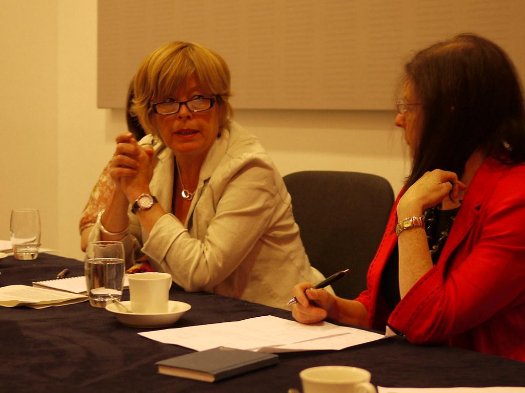NCVO Bursary Winners Roundtable - Clare Lewis Jones, Infertility Network and NCVO Bursary Wunner and Roberta Blackman Woods