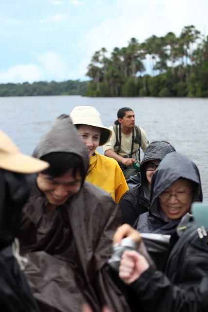 Rain on Lago Sandoval