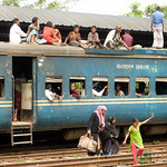 Train Travel Through Dhaka, Bangladesh